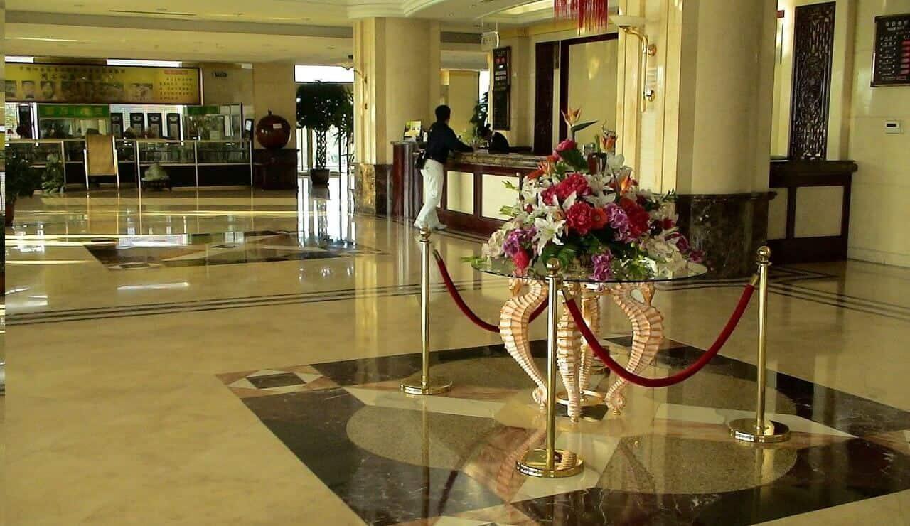 Lobby of a popular hotel
