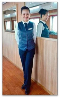 Viking restaurant staff