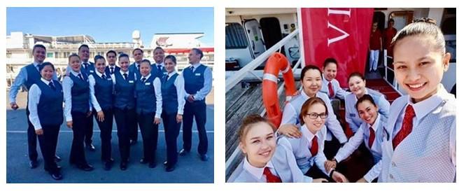 Employees of Viking cruises